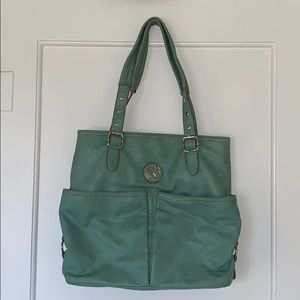 Teal Relic Large Purse